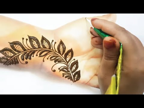 Beautiful and super easy mehndi design tutorial thumbnail
