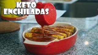 Cheesy Keto Enchiladas Recipe   Low Carb Mexican Food