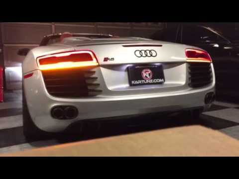 Audi R8 Euro Facelift Tail Lights On Us Spec Vehicle Youtube