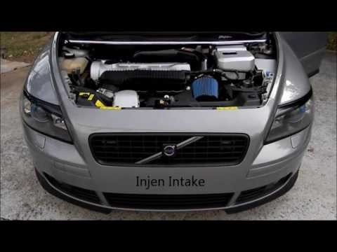 Volvo S40, Injen Intake - before and after - YouTube