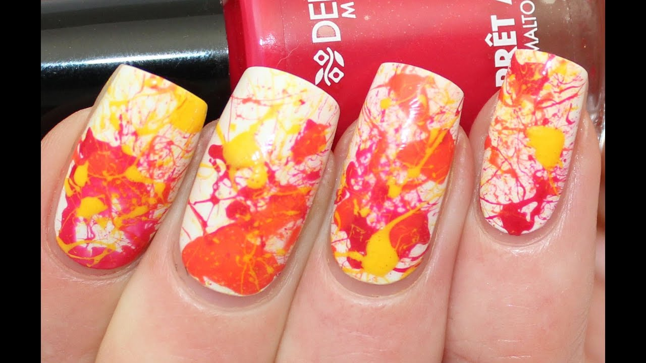 Splatter nail art tutorial for deborah milano beauty club youtube prinsesfo Image collections