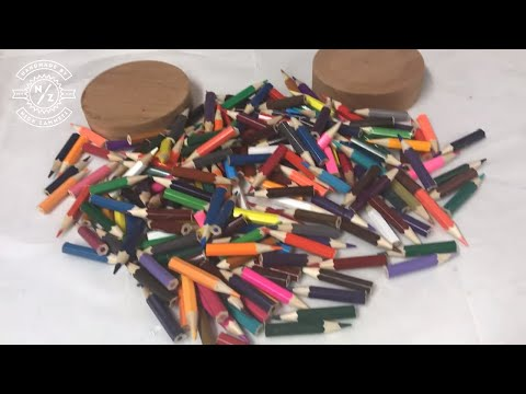 woodturning - A Pot made from just pencils