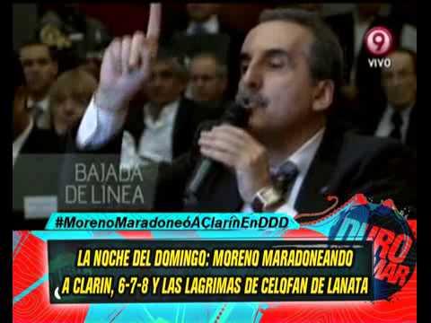 MORENO EN CLARIN  678 Y LA LAGRIMAS DE LANATA 20-05-13