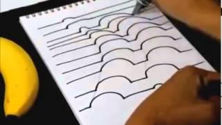 3D рисунок на бумаге + Обучение(В этом видео мы учим вас Как нарисовать 3D рисунок на бумаге., 2013-11-24T14:14:12.000Z)