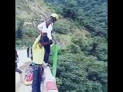 Horrifying Footage As Woman Smashes Into The Ground On Bungee Jump ( WARNING DISTRESSING FOOTAGE)