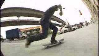 skateboarding LA Chinatown Ledges