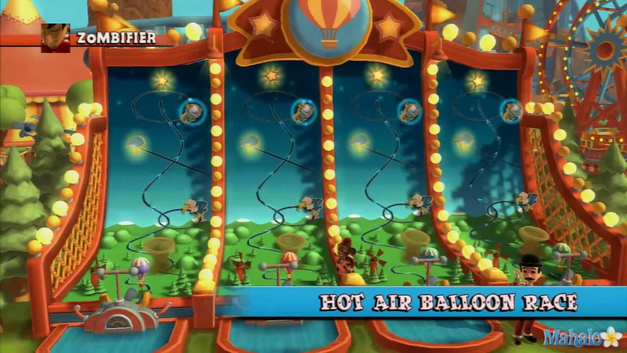 Carnival games monkey see monkey do walkthrough hot air for Air balloon games