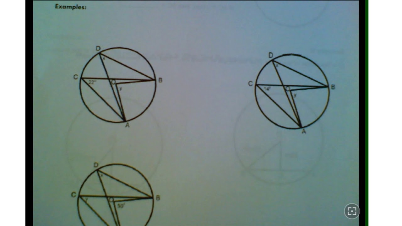 Lesson 1 Inscribed and Central Angles - YouTube