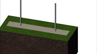 Príprava podkladu gabiónového plotu varianta 1