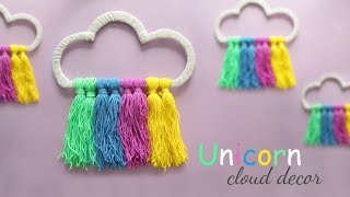Unicorn Cloud Decor | Diy Room Decor | Diy Wall Hanging
