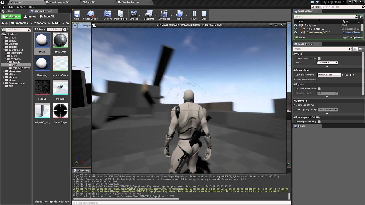 Ue4101 unreal engine true first and third person blueprint ue4101 unreal engine true first and third person blueprint demo wip4 youtube malvernweather Images