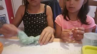 Je présente mes slime avec ma cousine