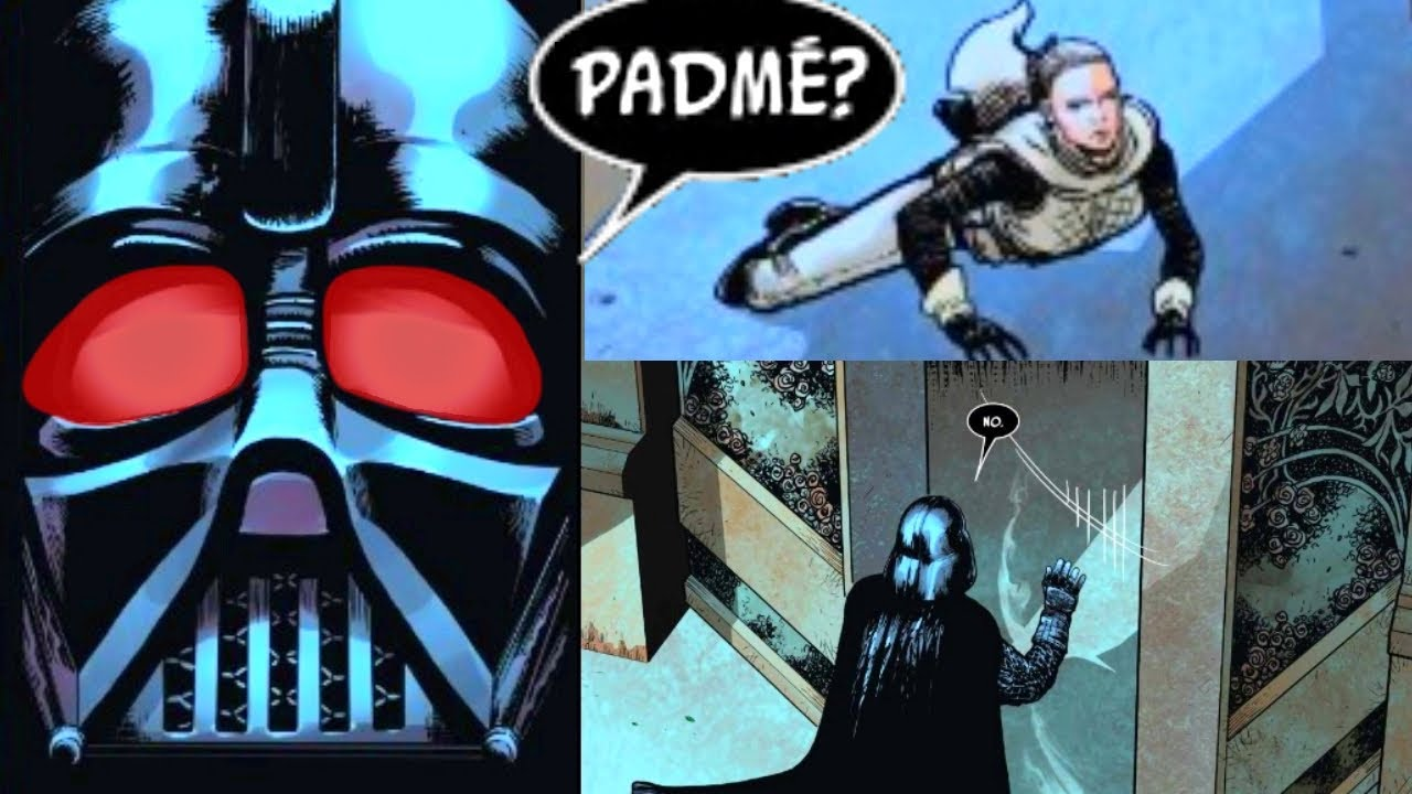 DARTH VADER GETS TO PADME'S CORPSE AND ENTERS HER TOMB(CANON) - Star Wars Comics Explained