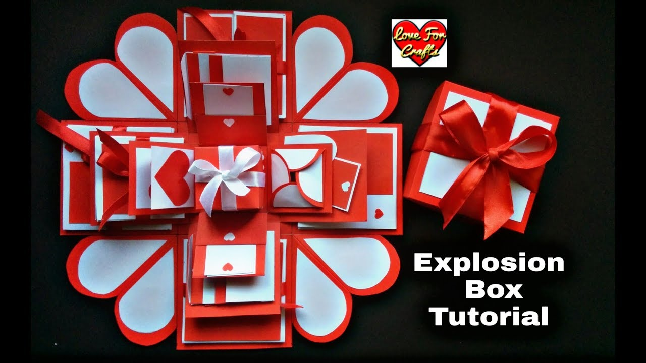 How to Make Beautiful Explosion Box for Anniversary   4 Layered Explosion Box   Tutorial
