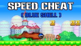[TAS] New Super Mario Bros DS Speed Cheat Speedrun (Blue Shell Luigi)