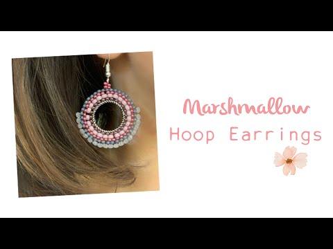 Brick Stitch Hoop Earrings - Jewellery Making Tutorial