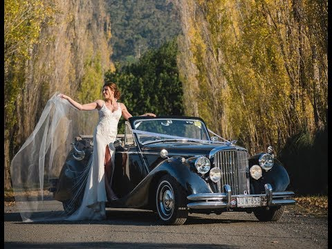 Wedding Car Hire Melbourne - Autumn In The Yarra Valley With Our 1950 Jaguar MkV Convertible