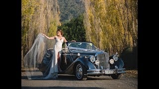 Autumn Wedding with our Jaguar Mk5 Convertible