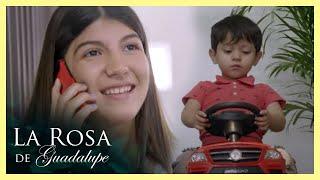 Alondra se distrae con el celular y Nico se accidenta  Dejando atrás el dolor   La Rosa de Guadalupe