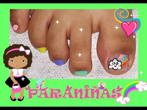 Decoracion De Unas Para Ninas Arcoiris Nail Decoration For Girls