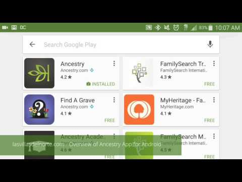 Overview Of Ancestry App For Android