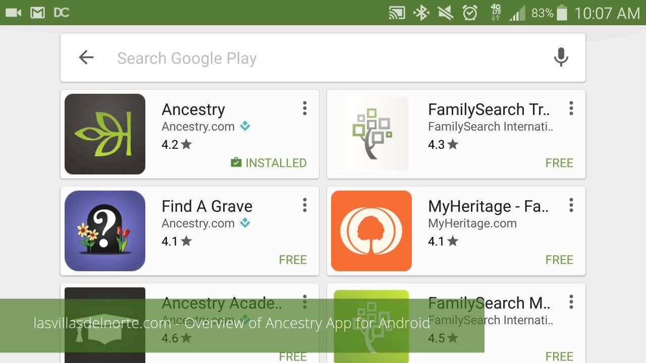 ancestry dna app for android