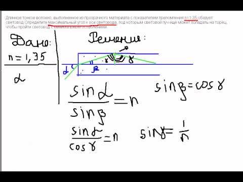 Оптика физика задачи и решение тесте егэ задачи с решением