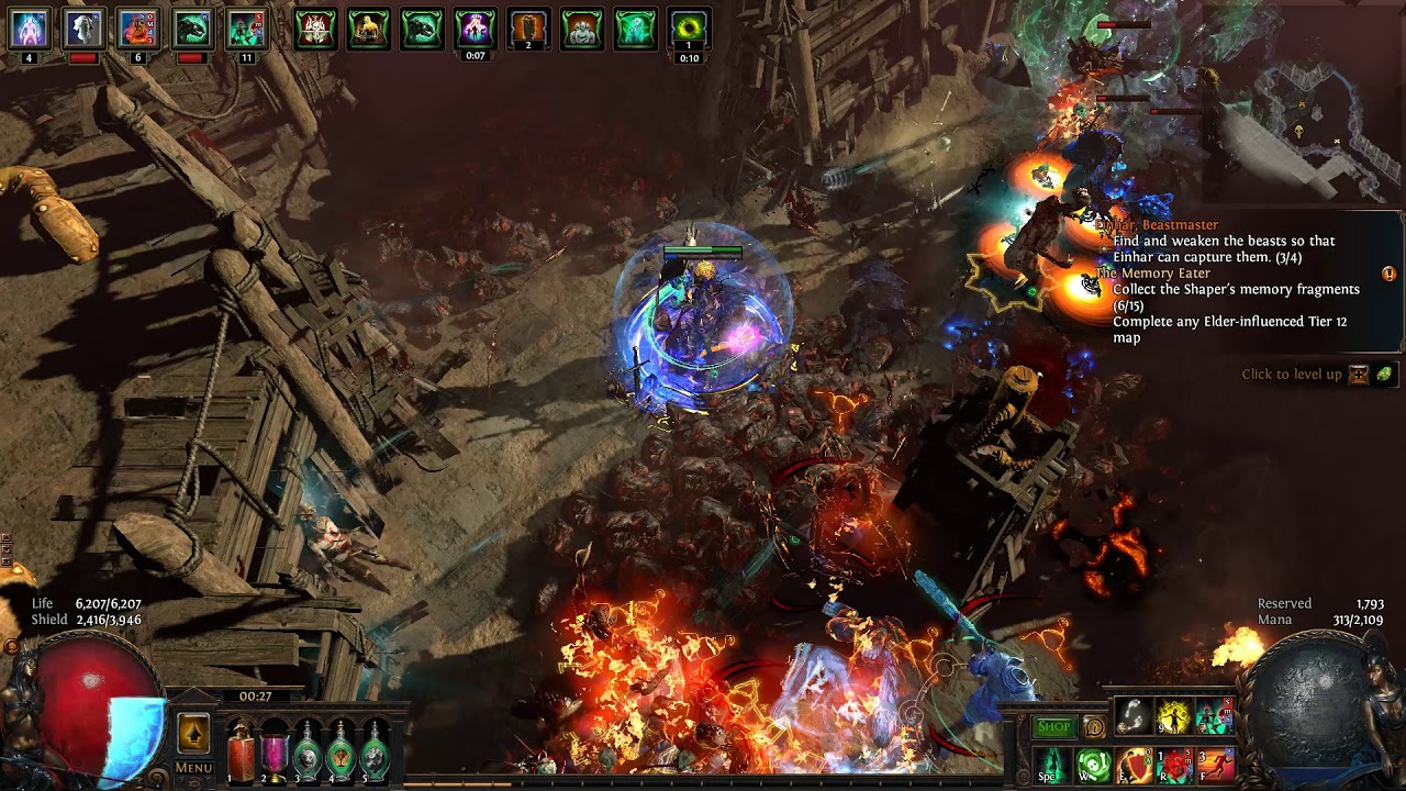 Path of Exile 3 8 BSC - Zombies and Skeletons Summoner - Chimera Map