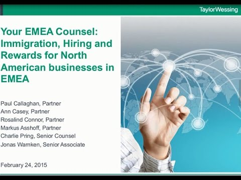 Your EMEA Counsel: Hiring Employees - immigration, offer letters and rewards