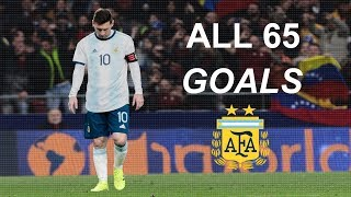 Lionel Messi All 65 Goals ⚽ For Argentina In Career 2006-2019