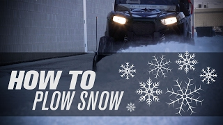 How to Plow Snow with a UTV ❄