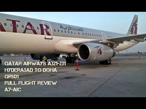*Short Movie* Qatar Airways A321-231 Flight Review: Hyderabad to Doha QR501