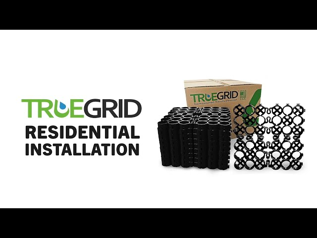 Residential Installation: How to install TRUEGRID Permeable Pavers