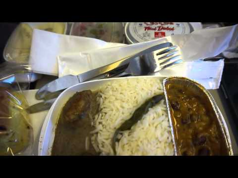meal serivce on Dubai to Delhi flight with Emirates (May 23rd, 2015)