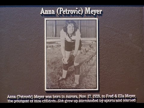 Anna  Petrovic  Meyer  former  member  of  the  All-American  Girls  Professional  Baseball  League