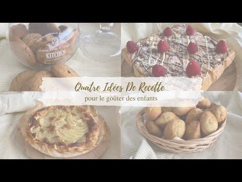 ❥ Quatre idées de recette pour le goûter des enfants ╳ Madeleines, cookies, cake & tarte à la poire
