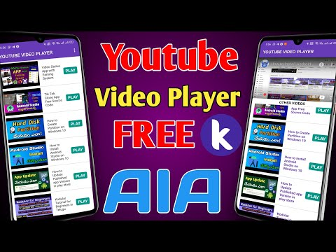 Youtube Video Player App Kodular AIA file   How to Make Youtube Videos as List In Kodular