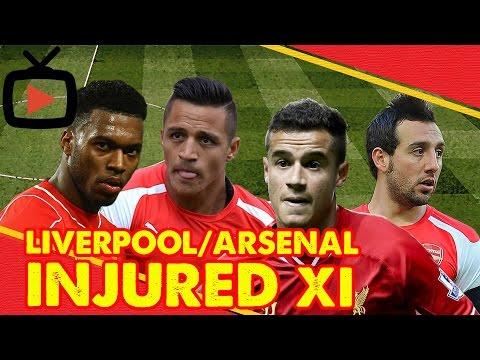 Liverpool/Arsenal Injured XI | Arsenal Fan TV