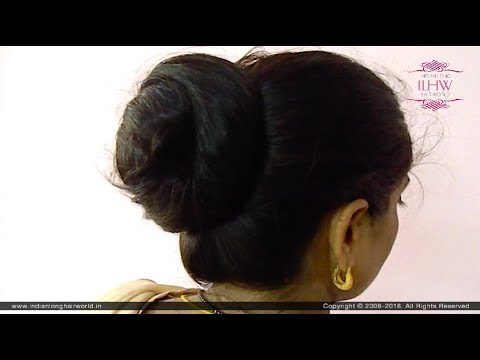 Sensational Khopa Flaunting Bun Drop Hair Brushing By Thigh