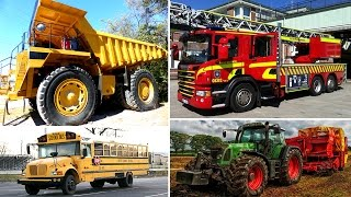 Learning Street Vehicles Names and Sounds For Children Cars Trucks Fire Engine Educational Video