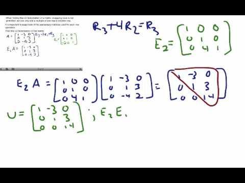 Linear Algebra- LU Factorization of a Matrix - YouTube