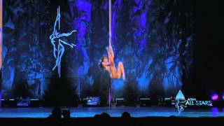 MADDIE SPARKLE - Pole Art competition performance - Aerial All Stars 2015