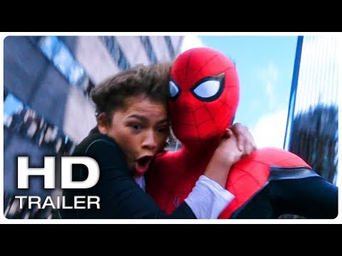 SPIDER MAN FAR FROM HOME Spider Man & MJ Swinging Scene Trailer (NEW 2019) Superhero Movie HD