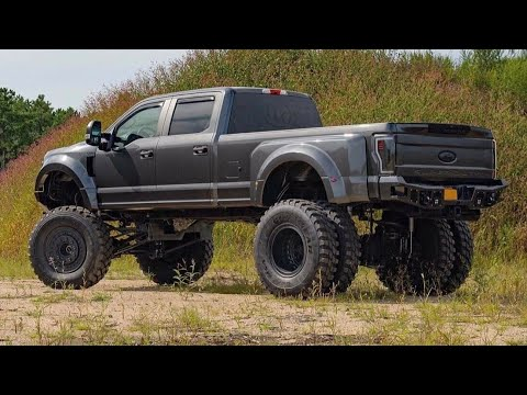 custom lifted ford super duty  dually youtube
