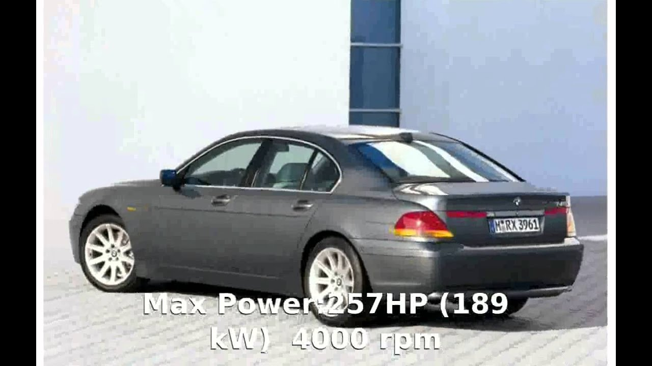 2002 BMW 740d E65 - Specification and Specs - YouTube