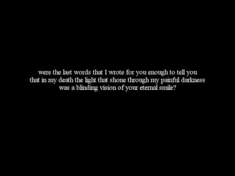 Alesana - The Last Three letters (Lyrics)