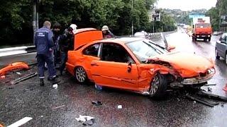 BMW на Огромной Скорости Протаранил Таврию.