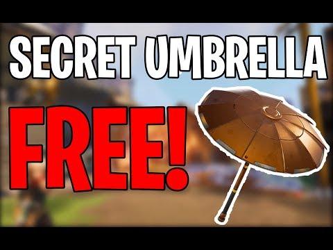 FORTNITE HOW TO GET THE FREE SECRET UMBRELLA! - HOW TO GET FORTNITE SNOWFLAKE UMBRELLA FREE!