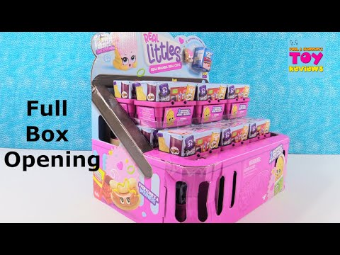 Shopkins Real Littles Full Case 2 Pack Blind Bag Opening Toy Review | PSToyReviews