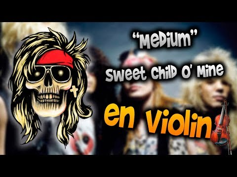 Guns N' Roses – Sweet Child O' Mine en Violín|How to Play,Tutorial,Tab,sheet music,Como Tocar|Manu